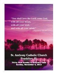 St. Anthony Catholic Church Frankfort, IL St. Anthony Catholic ...