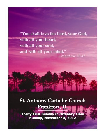St. Anthony Catholic Church Frankfort, IL St. Anthony Catholic ...