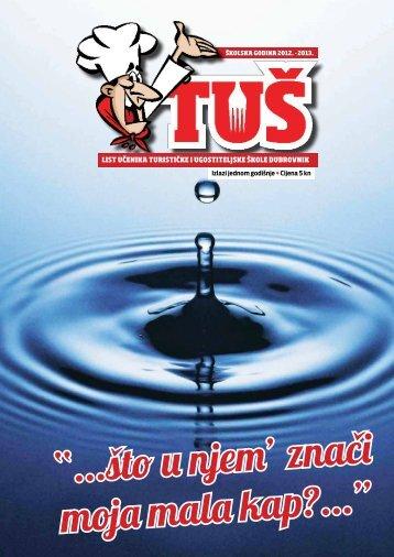 List učenika Turističke i ugostiteljske škole 2012. - Turistička i ...