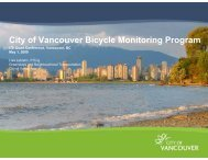 City of Vancouver Bicycle Monitoring Program - Citevancouver.org