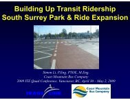 Building Up Transit Ridership South Surrey Park & Ride Expansion