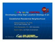 Developing a Stop Sign Strategy in an Established Residential ...