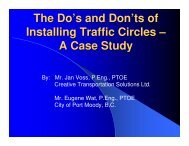 The Do's and Don'ts of Installing Traffic Circles – A Case Study