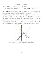 Homework 4 solutions - Stankewitz