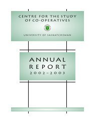 Annual Report 2002-2003 - Centre for the Study of Co-operatives
