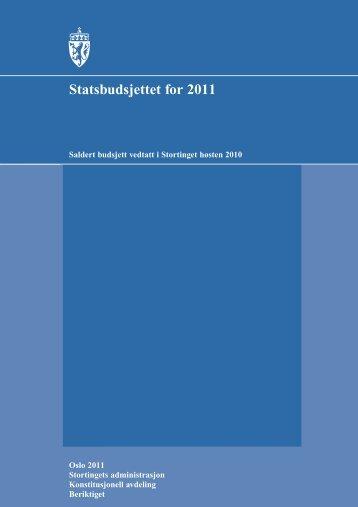 Vedtatt budsjett 2011 - Stortinget
