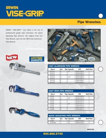 IRWIN Industrial Tools - Cast Aluminum Pipe Wrench - Irwin Tools