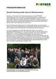 PRESSEINFORMATION Standort Hamburg weiter stark auf ...