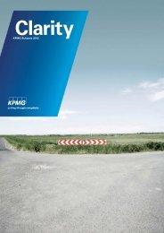 Clarity: Jahresbericht 2012 KPMG Schweiz