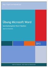 Übung Microsoft Word - Ingrid von Koslowski