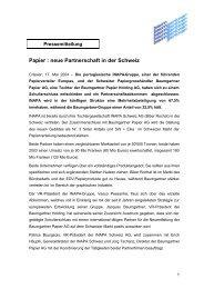 Papier : neue Partnerschaft in der Schweiz - Groupe Baumgartner ...