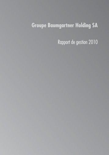 download PDF - Groupe Baumgartner Holding SA