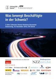 Was bewegt Beschäftigte in der Schweiz? 5 Jahre ... - ETH Zürich