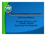 2012 Annual Meeting Review - Village of Round Lake