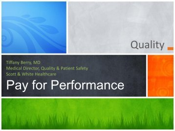 Quality Update - Healthcare Professionals