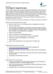 Vorschläge für Gegenleistungen - t-sternberg.de