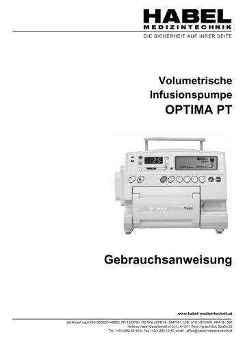 OPTIMA PT Gebrauchsanweisung - HABEL Medizintechnik