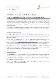 Allgemeine Infos - FSJ Kultur in NRW