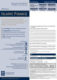 ISLAMIC FINANCE - Institute for Islamic Banking and Finance