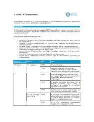 1. modul - IKT alapismeretek