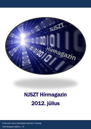 NJSZT Hírmagazin 2012. július - Neumann János Számítógép ...
