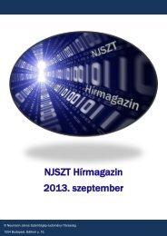 NJSZT Hírmagazin - Neumann János Számítógép-tudományi ...
