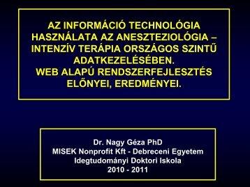 Az információ technológia használata az aneszteziológia