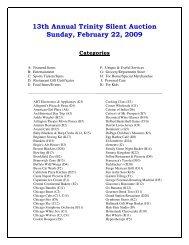 2009 Auction Catalog - Trinity Preschool
