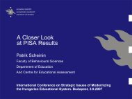 A Closer Look at PISA Results