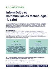 Információs és kommunikációs technológia: 1. szint
