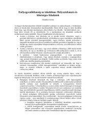 Nahalka István: Esélyegyenlőség az iskolában: helyzetelemzés és ...