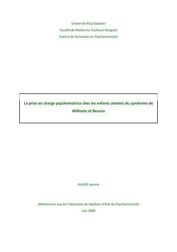 La syndrome de - Institut de Formation en Psychomotricité de ...