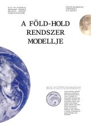 a föld-hold rendszer modellje - ELTE TTK Kozmikus Anyagokat ...
