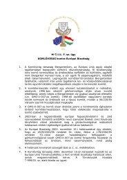 M-7/11. F. sz. ügy KOMLÓVIRÁG kontra Európai Bizottság 1. A ...