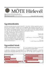 2. évfolyam, 1. szám, 2007. november - Magyar Ökológusok ...