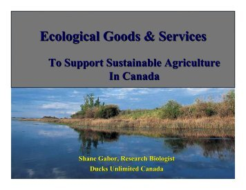Ecological Goods & Services - Agricultural Institute of Canada