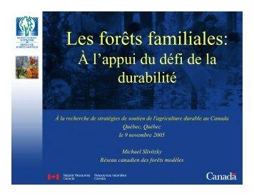 Les forêts familiales: