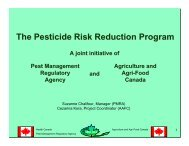 The Pesticide Risk Reduction Program - Agricultural Institute of ...