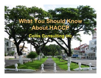 What You Should Know About HACCP - Agricultural Institute of ...