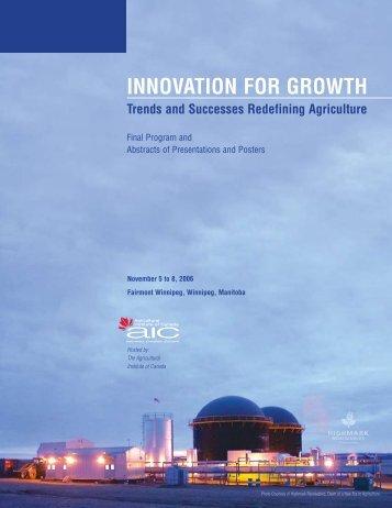 Final Program - Agricultural Institute of Canada