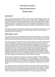 Guidance Notes - North Ayrshire Council