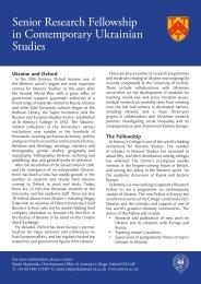 UkrainianFellowship - Oxford University Ukrainian Society