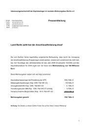 Pressemitteilung Land Berlin zahlt bei der Anschlussförderung drauf