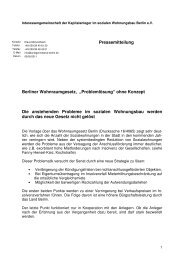Pressemitteilung zum Wohnraumgesetz Berlin