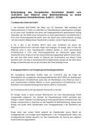 Entscheidung des EuGH 15.04.2010 C 215 08