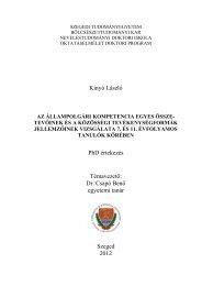 értekezés - edu.u-szeged.hu - Szegedi Tudományegyetem