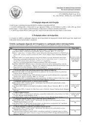 Tételek a pedagógia alapszak záróvizsgájára és ... - edu.u-szeged.hu