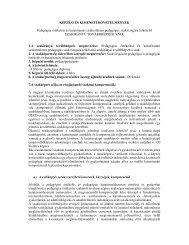 KÉPZÉSI ÉS KIMENETI KÖVETELMÉNYEK ... - edu.u-szeged.hu