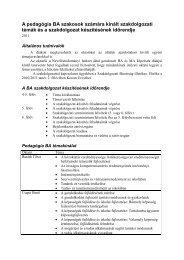 Szakdolgozati témák a pedagógia BA szakosok ... - edu.u-szeged.hu