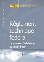 chaise d'arbitrage - Fédération Française De Badminton